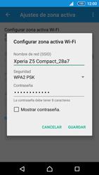 Configurar para compartir el uso de internet - Sony Xperia Z5 Compact - Passo 7