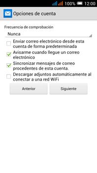 Configurar el correo electrónico - Alcatel Pop C9 - Passo 10